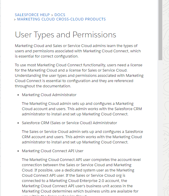 Marketing Cloud User Types and Permissions