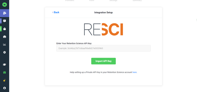 Enter Retention Science API