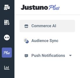 Justuno Plus new menu