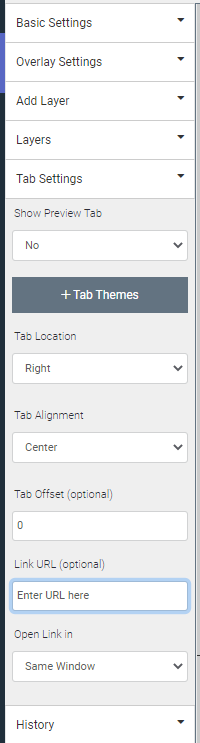 tab link URL