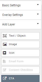 add CTA button in add layers submenu