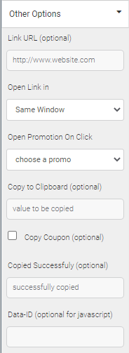 other options for CTA button
