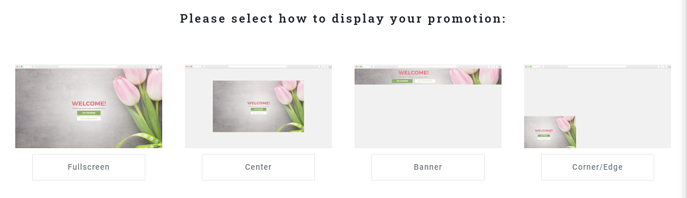 Select display for promotion