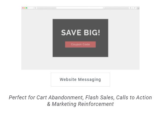 Website message promotion