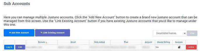 manage sub account