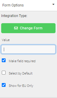 GDPR consent checkbox settings