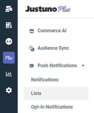 push notification lists