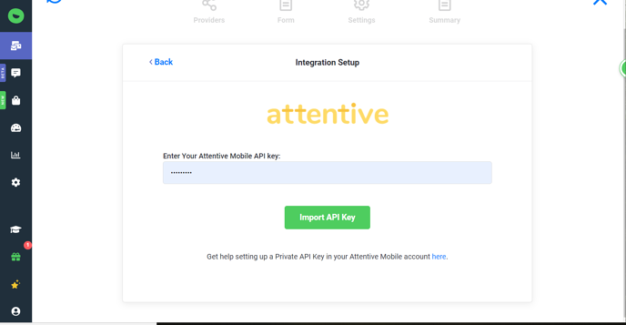 Attentive API Key