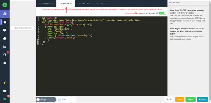 javascript adding item to cart
