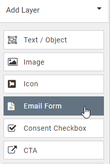 Add email form layer