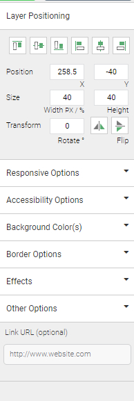 Animation customization options