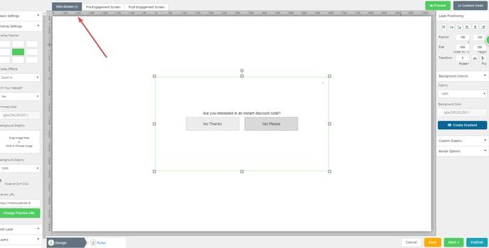 editing Intro Screen content