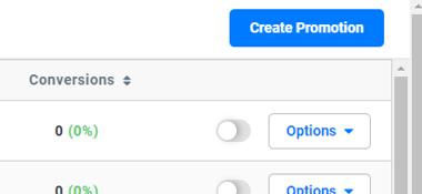 Create promotion button