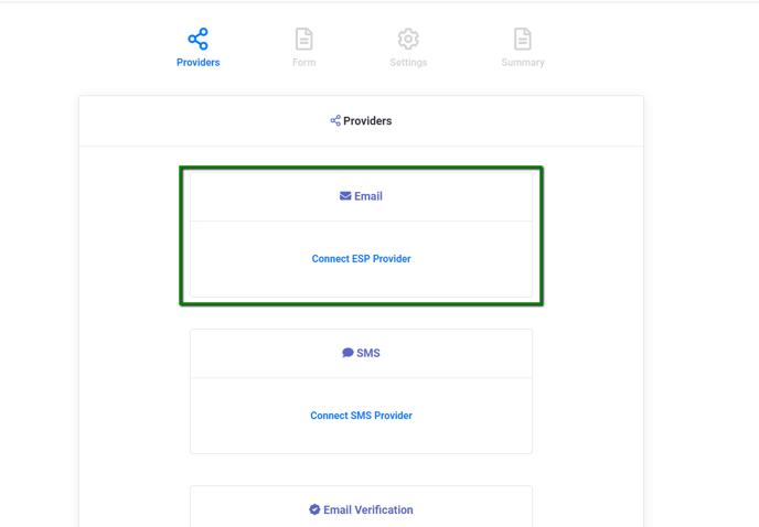 Change Provider: Connect ESP Provider