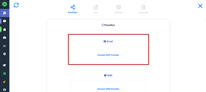 Change Form: Connect ESP Provider Option
