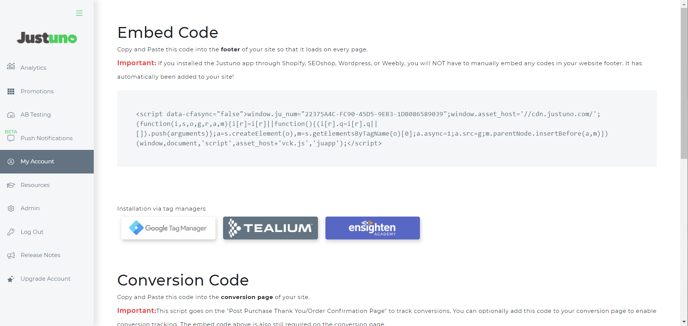 General Conversion Code Installation