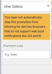 Add promotion list