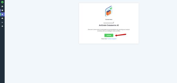 Commerce AI Activate Button