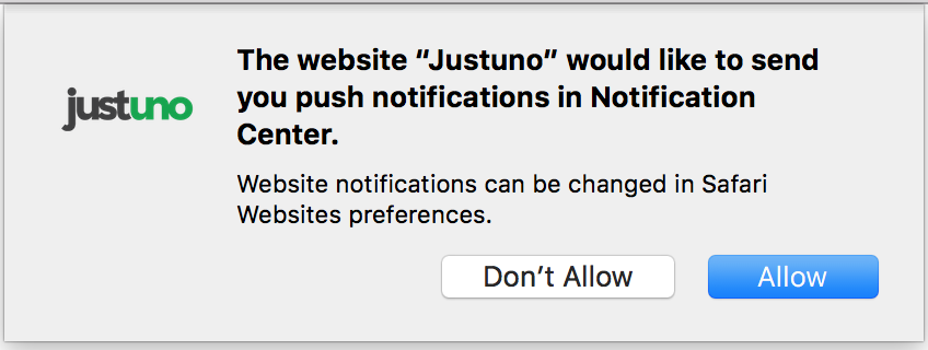 Safari Push Notification