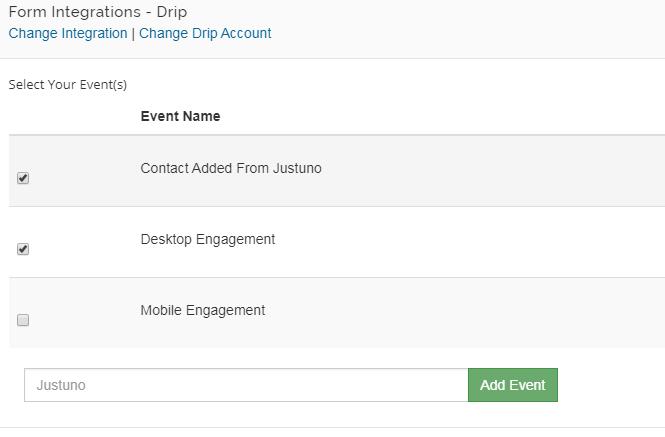 Drop events