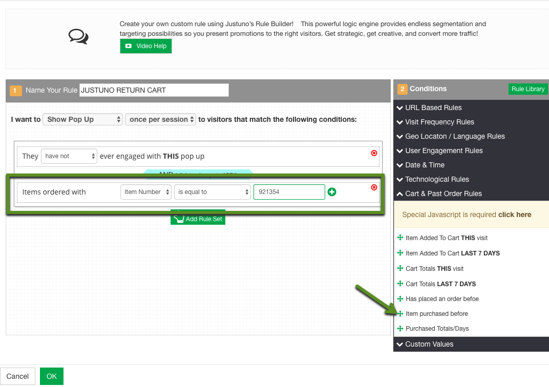 Target Order and Cart Values in Shopify