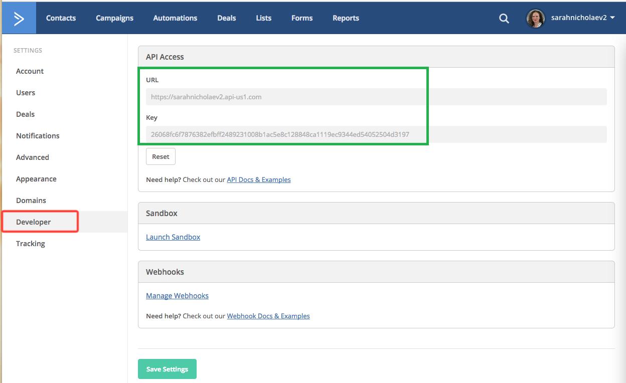 Active Campaign API Access