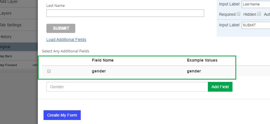 Click Create Form