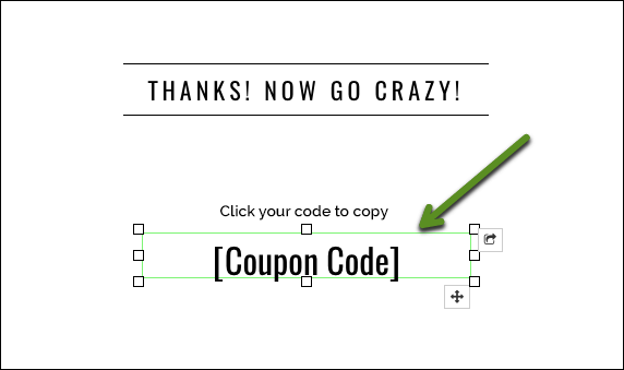 Copy coupon text