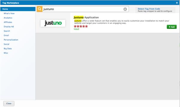search justuno in tag marketplace